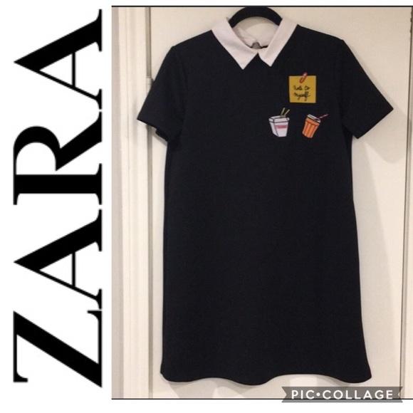 Zara Dresses & Skirts - Zara Embroidered Shift Dress - M